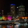 Downtown Brisbane at night.