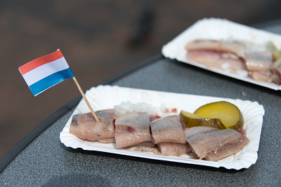 The common snack of Haarlem is pickled herring.