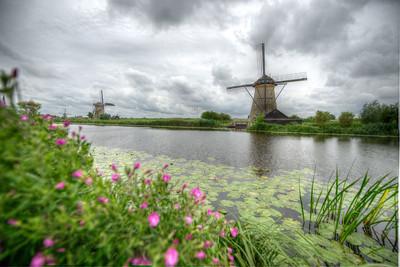The windmills of Kinderdijk. The Netherlands.