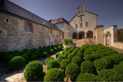 Abbey of Notre-Dame de Saint-Rémy where the trappist beer, Rochefort is brewed. Rochefort, Belgium.