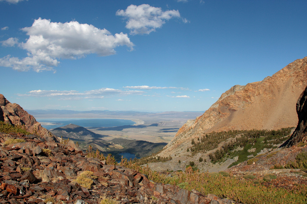 Mono Pass  12, 643 ft.  Overlooking Nevada and Mono Lake