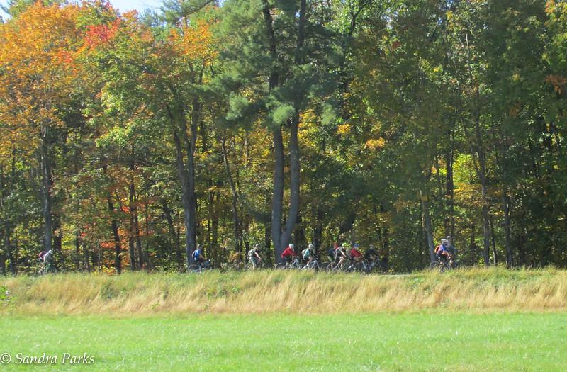 mountain bikers at Stokesville