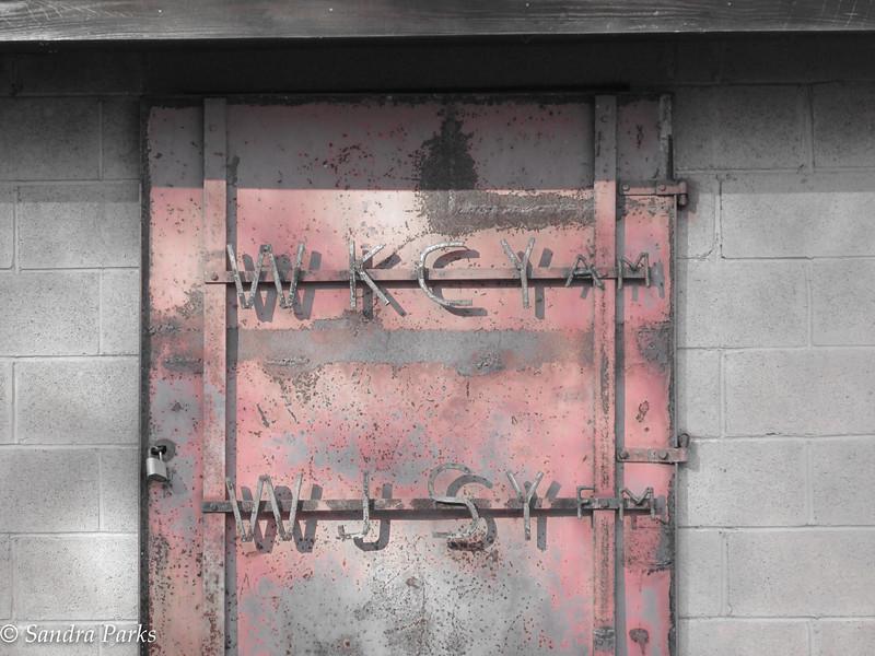 11-8-15: radio door, up on Narrowback.