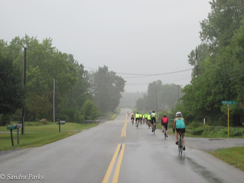 The start was a little damp