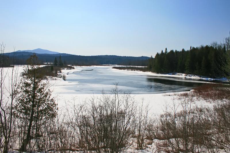 hudson river at harris lake, newcomb NY