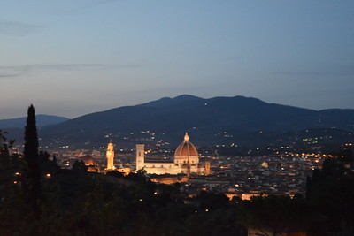 View down in Florence at twilight