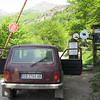Entering the park in the Lada Niva, a hired car which brought us to some of Kate's field sites in the Central Balkan National Park.  The Lada is a cheap, yet rugged Russian 4x4 - quite popular in Eastern Europe.