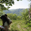 Kate and Georgi listening to birds.  Georgi was our Bulgarian (English-speaking) guide.  He likes Depeche Mode.
