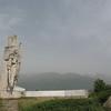 Threatening monument to Kalifer Voivoda, founder of Kalofer.