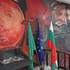 Mural inside the Botev museum.