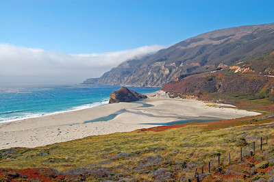 Breathtaking scenery encountered along the Pacific Coast Highway in the Big Sur area.