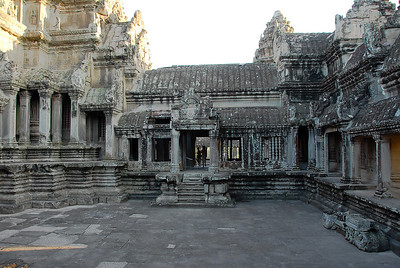 Inner area of the higher central part of this large temple.
