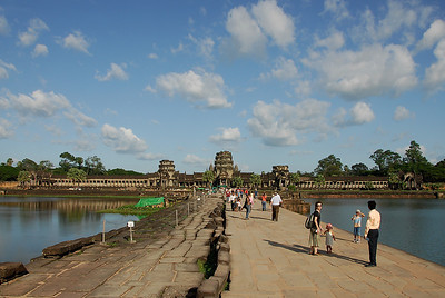 The bridge to Angkor Wat. The temple was well protected by the water.