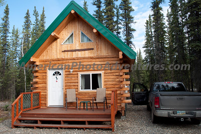 First night in Tok, Alaska at a B&B recommended by the local health food store owner.