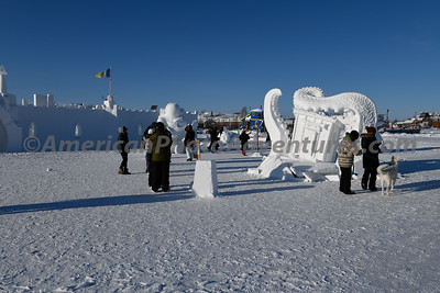 A Winter Festival was starting today held on the lake @ -20F.