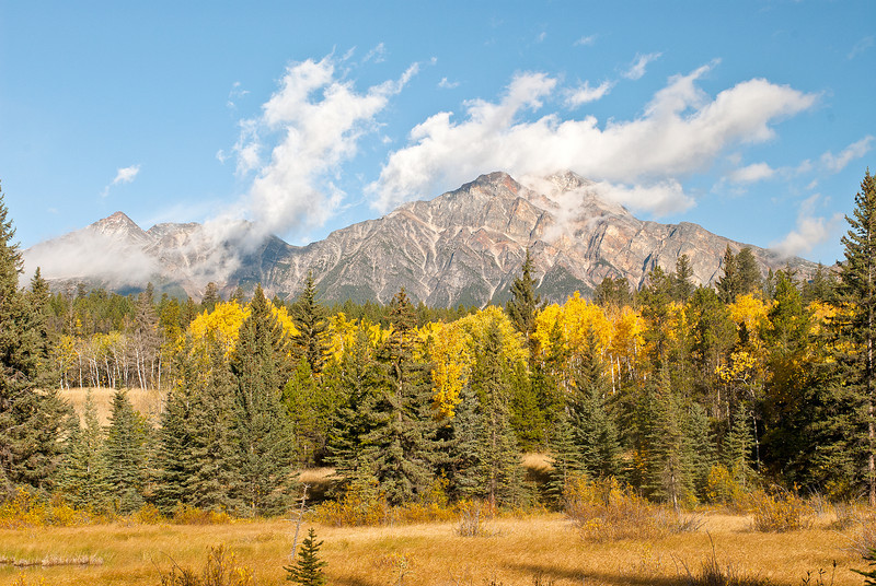 TRCA-11127: Fall colors and Pyramid Mountain in Jasper National Park