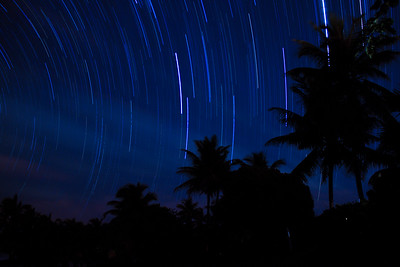 Caribbean Star Trails