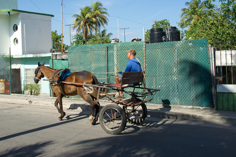 Two wheeled horse drawn cart