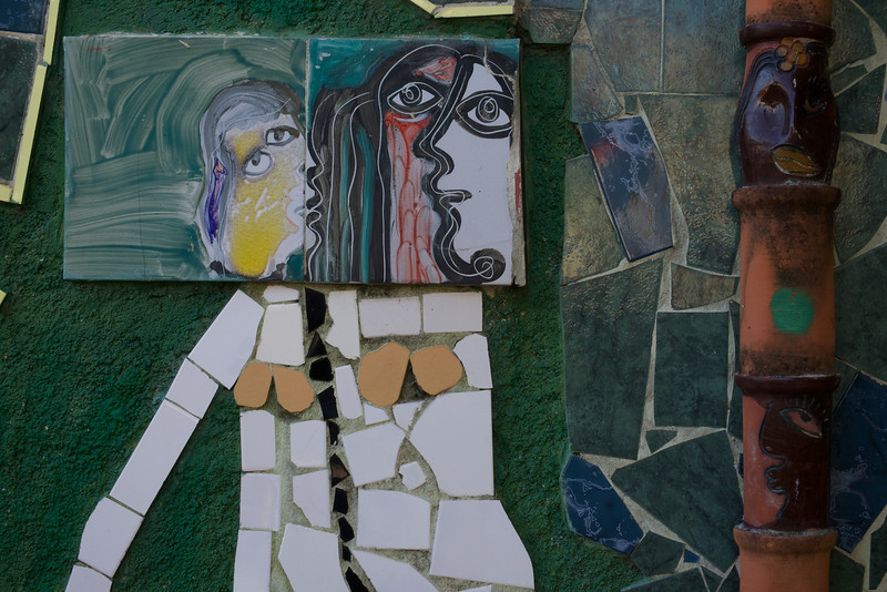 Artistic tiles at home of Cuban master Fuster