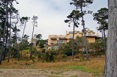One of the many large homes on the 17 mile drive.