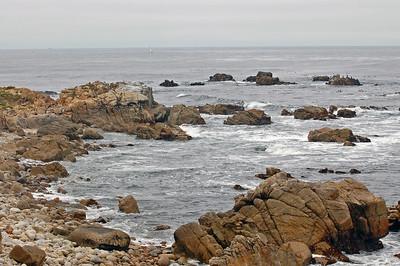 Turbulent coast on the 17 mile drive.