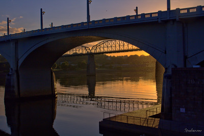 The Walnut Street Bridge from under the Market Street Bridge Chattanooga, TN, 07/13/2019 This work is licensed under a Creative Commons Attribution- NonCommercial 4.0 International License