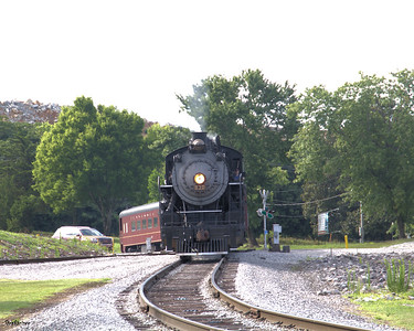 Tennessee Valley Railroad Museum      Grand Junction.  2-8-0 #630 completing a turnaround on the wye. Chattanooga, TN, 07/13/2019 This work is licensed under a Creative Commons Attribution- NonCommercial 4.0 International License