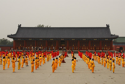 "Temple of Heaven - Chinese TV is here to make a promotion video for Olympics 2008 with help of many ""Kung Fu masters""."