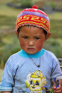 Tibetan girl about 4 years old.