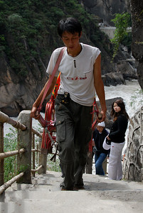 "Hard work at ""Tiger leaping gorge""..."