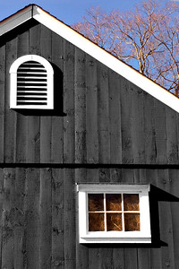Barn Windows #2 using selective coloring