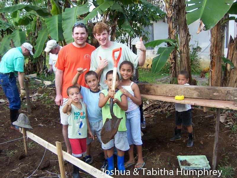 Children helping us.