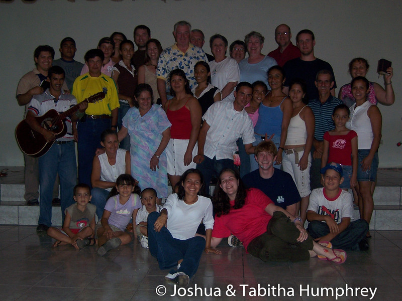 Church members and the mission team