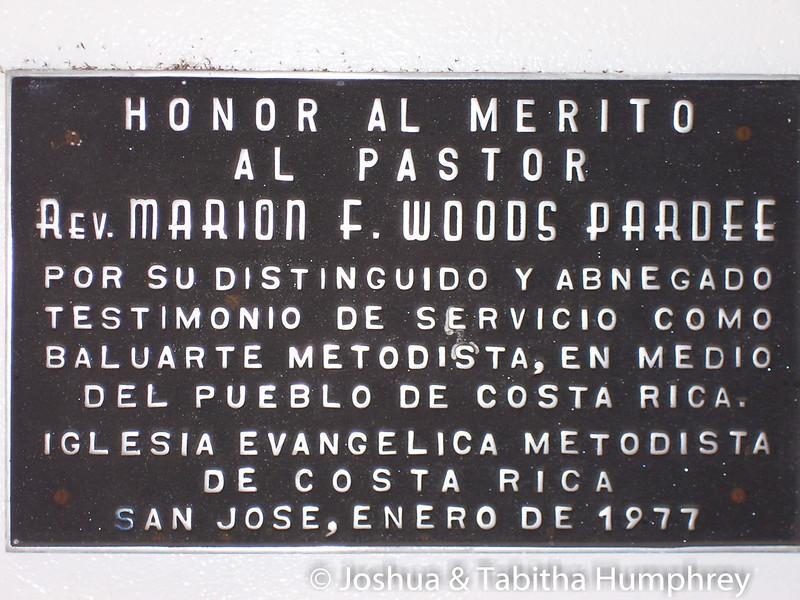 Honoring Rev Marion Woods, January 1977.