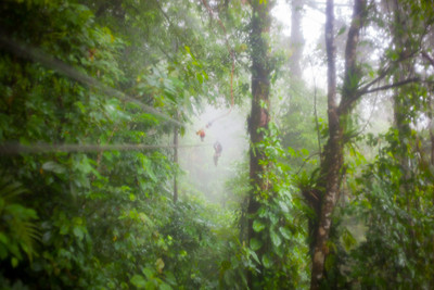Ziplining in the Rain - Arenal