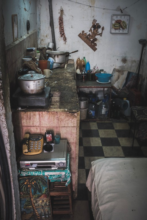 This is the home of a Cuban living in Cienfuegos. The average monthly salary in Cuba is under $30/month.