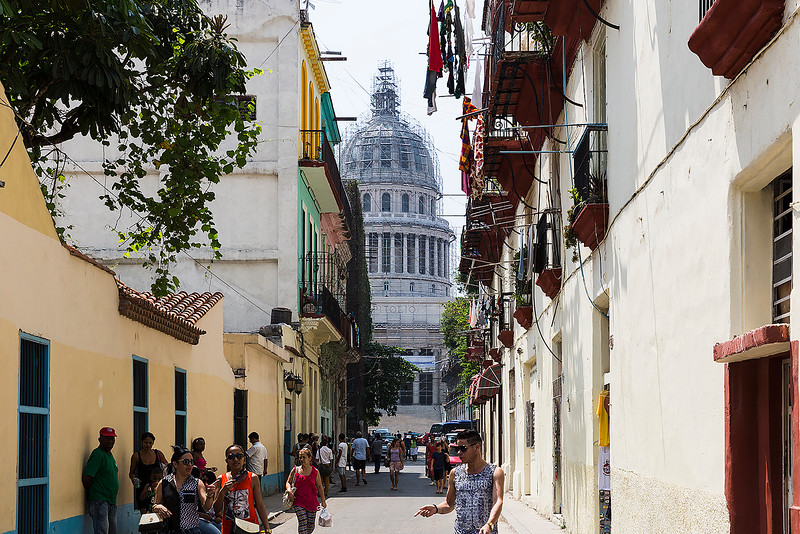 Old town section with the National Capitol