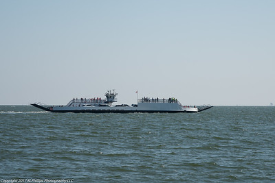 The other Mobile Bay Ferry making its way to Ft. Morgan while we make our way to Dauphin Island