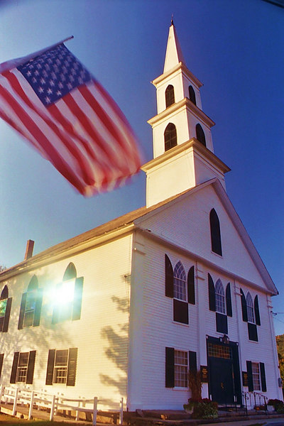 Vermont Church at Evening