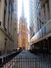 Wall Street View Towards Trinity Church