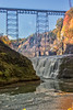 Letchworth State Park - Upper Falls and Rairoad Bridge