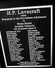 Dedication of Lovecraft Bust