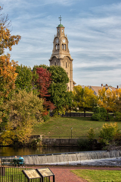 Pawtucket Falls and Church Tower