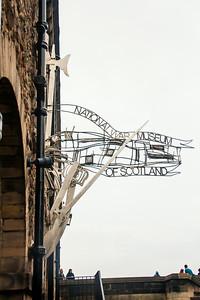 National War Museum of Scotland Sign