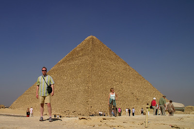 That's me...(the guy in shorts) really enjoying the Pyramids of Giza.