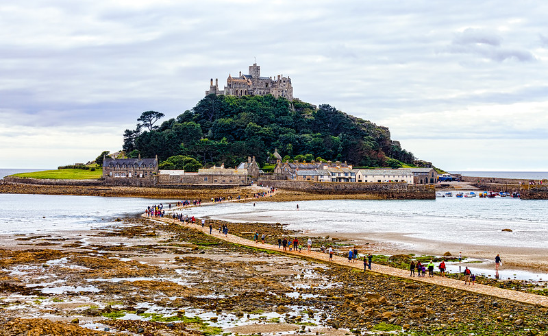 St. Michael's Mount in Marazion, Cornwall, UK - a parallel to the one in France, Mont Saint-Michel....