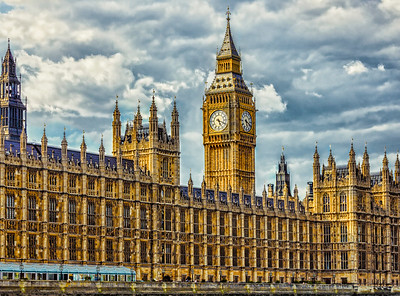 Westminster Palace - housing the British Parliament!  And adorned by BIg Ben of course!