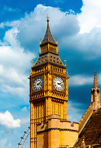 Big Ben and the London Eye!