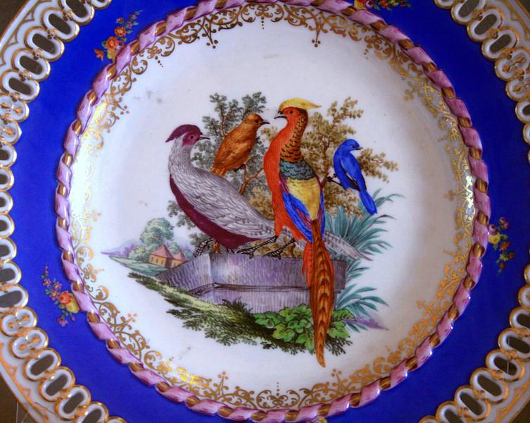 Bobboli Gardens Porcelain Pavilion - Pheasant Plate