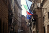 Siena - Streetscape with Flags